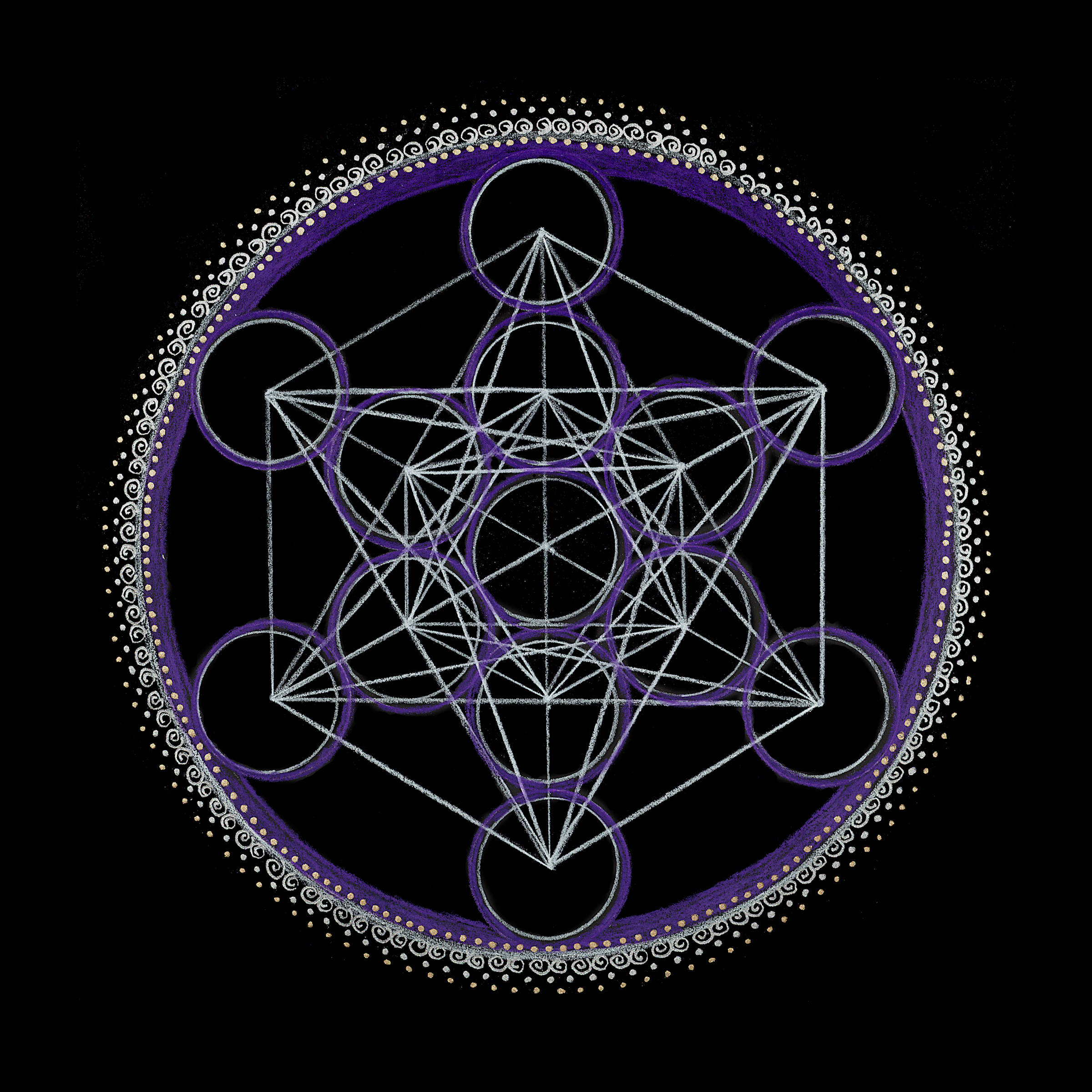 Sacred Geometry Third Eye Chakra Mandala Chakra